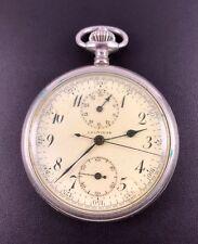 Leonidas Taschenuhr Chronograph Schaltrad Militär U-Boot Marine 1930/40's