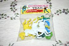 Vintage Gunsmoke Trail Swivel Action Figures Joy Toy No.1581 NOS