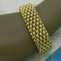 "TRUE VINTAGE ESTATE Big 8"" Bracelet MAGNETIC CLOSURE  Elegant Goldtone Glamor"