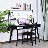 Heavy Duty Office Desk Computer Table Ample Storage Desktop W/ Whiteboard,