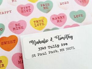 Modern Calligraphy Return Address Labels, Invitation Address Labels, RSVP