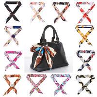 Silk Scarf Ribbon Hair Neck Bag Scarves Bow Tie Hair Tie Handbag Accessories