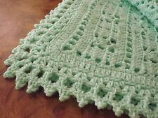 Handmade  NEW crochet baby  blanket  Mint Green Afghan  Sweet Dreams Baptism
