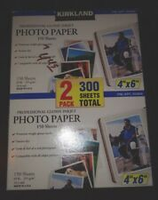 "New OB Kirkland Proffessional Glossy Photo Paper 4""x6"" 300 Sheets"