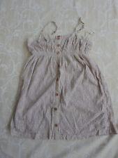 Valley Girl Beige Cotton Dress Women's Size L