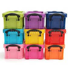 9Pcs Mini Multicoloured Plastic Storage Boxes Container Bin Organizer with Lid