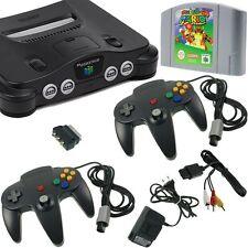Nintendo 64 N64 Konsole ALLE Kabel 2 Controller Super Mario 64 GUTER Zustand