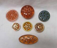 Group (7) of Vintage Flower Frogs - Glass - Depression Pink - Amber (#11)