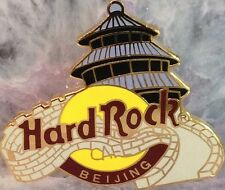 Hard Rock Cafe BEIJING 1990s PAGODA HRC Logo PIN Grid Bk. 3LC PIN by GTO #1075