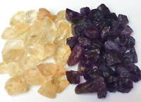 Amethyst / Citrine Points & Pieces 1/2 Lb Lots Natural Gold & Purple Raw Crystal