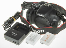 Canon EOS 600D / Rebel T3i DSLR camera +2x battery *excellent condition*