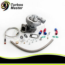 T3/T4 T04E TURBO CHARGER + FEED RETURN LINE for CIVIC 01-05 EM2 ES1 EP3 D17 K20