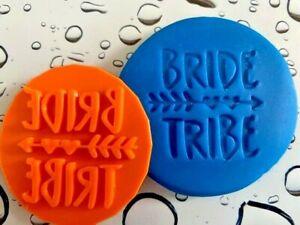BRIDE TRIBE HEN NIGHT Wedding Fondant Icing Cupcake Cookie Embosser Stamp