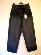 Vokal Jeans Loose Fit Noir Rinse Laver Pantalon Style V001103 Taille 30Wx30L BNWT