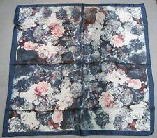 "Women Square 35"" Large 100% Pure Silk Scarf Ladies Shawl Wrap pink blue FJ31148"