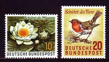Germany Bund BRD 1957 ** Mi.274/75 Naturschutz Environment Protection | Seerose