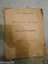 Ecole de navigation sous-marine Moteur diesel Cours mécaniciens  Le gallou 1922