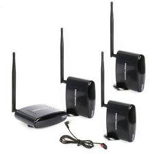 2.4G PAT-260 AV Wireless Transmitter Sender IR Remote Extender 3 Receivers 350M