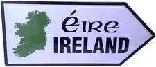 IRISH IRELAND EIRE MAP OLD STYLE REPLICA METAL ROAD SIGN SOUVENIR GIFT FREE SHIP