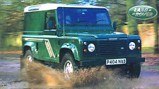 Land Rover Defender Spec Sheet/Brochure:1997,1996, 1995,