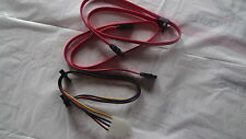 4 pin IDE power to 2 Serial ATA SATA Splitter Power Cable with SATA DATA cables!