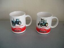 Set of 2 Ford Motor Company Tractor Cups Mugs New Holland 8730 Ford 9600 Tractor