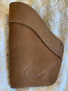 Barsony Leather brown IWB holster for 9mm .40 cal S&W M&P Shield