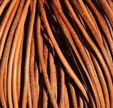 5 metros cordon piel cuero de 2,5mm color NATURAL couro leather cuir leder