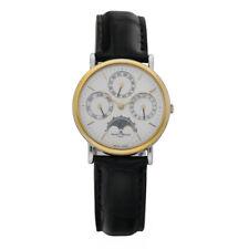 Baume & Mercier Day Date Month Moon Two Tone Black Leather Quartz Men's Watch