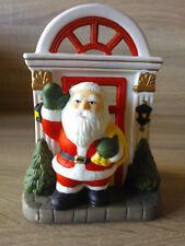 Teelichthalter Weihnachtsmann Keramik Advent Weihnachten