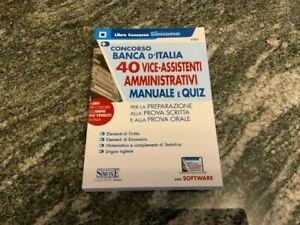 Libro Concorso Ed. Simone Concorso Banca d'Italia 40 vice-assistenti amm.