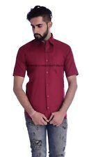 Mens Business Shirts Casual Formal Slim Fit Short Sleeve Luxury Shirt Tops Dress