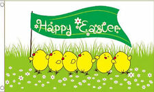 Happy Easter 5'x3' Flag with Easter Chicks Egg Hunt