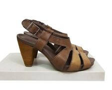 CLARKS Shoes Size 5 Brown Leather Sandals Casual Holiday Everyday Evening Party