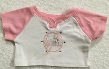 Build A Bear Pink White Logo Tee T-Shirt MLB New York Yankees for your Teddy
