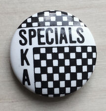 RARE Vintage 80s The SPECIALS AKA pinback button pin Ska 2 Tone badge Terry Hall