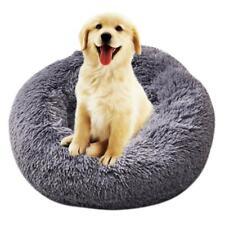 Soft Pet Bed Round Kennel Dog Winter Sleeping Bag Plush Puppy Cushion Mat
