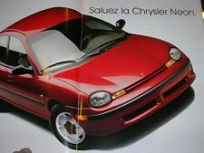 BROCHURE CHRYSLER NEON  MODELE  FRANCAIS  1994