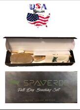 Spaverde Limited Luxury Edition Full Boar Bristle Dry Brushing Set 3pc + Bag