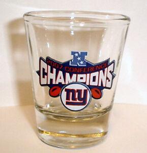 NY GIANTS  2007 NFC CHAMPS SUPER BOWL 42 shot GLASS
