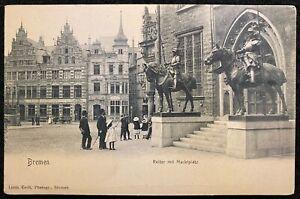 1901-07c **BREMEN, GERMANY** (MARKTPLATZ) MARKETPLACE {{{REAL PHOTO}}} POSTCARD!
