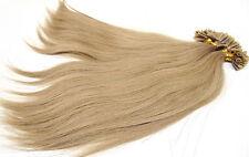 Echthaar Haarverlängerung Hair Extensions Strähnen mit Keratin Bonding Aschblond
