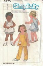 Simplicity 6775 Toddler Sz 3 Pull on Pants Lined Sundress Panties Vintage 1984