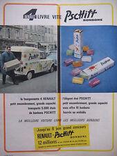 PUBLICITÉ DE PRESSE 1962 LA RENAULT 4 LIVRE VITE PSCHITT BONBONS - ADVERTISING