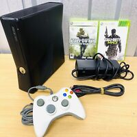 2010 Xbox 360 S Console Bundle (250GB) 2 x COD Games & Wired Controller VGC