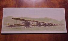 "1920's Biplanes ""Set to Go"" Wheeler Field Oahu TH Hawaii Tinted 4"" x 10"""