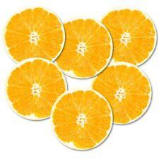 """Untersetzer 6-tlg. Set """"Orange"""" mit Korkrückseite - Südrüchte - Frucht - Kork"""