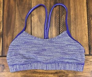 Lululemon Flow Y Bra Wee Are From Space Bruised Berry Yoga Luon Mesh Size 4