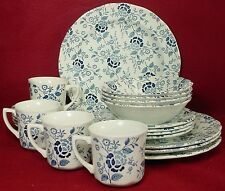 J. & G. MEAKIN china VICTORIA BLUE pattern 20-pc SET SERVICE for FOUR (4)