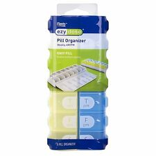 Ezy Dose 7 Day Pill Organizer Easy Fill Weekly AM/PM XL Pill Planner #67705